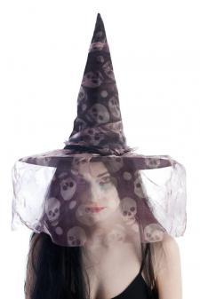 Chapeau de sorcière avec tête de mort (x1) REF/13730