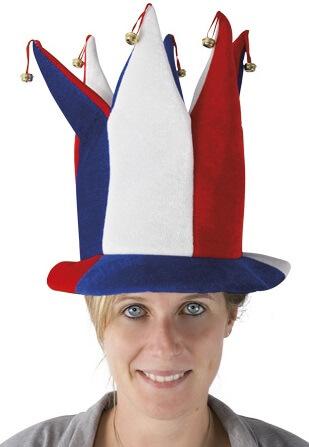 Chapeau fou du roi tricolore france