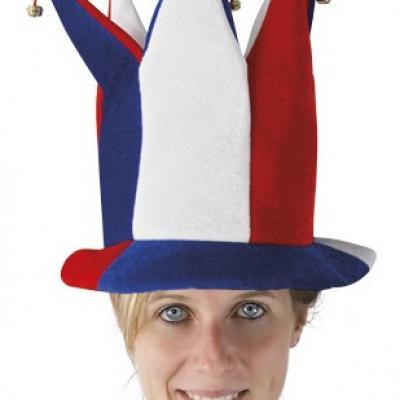 Chapeau fou du roi tricolore France (x1) REF/30032