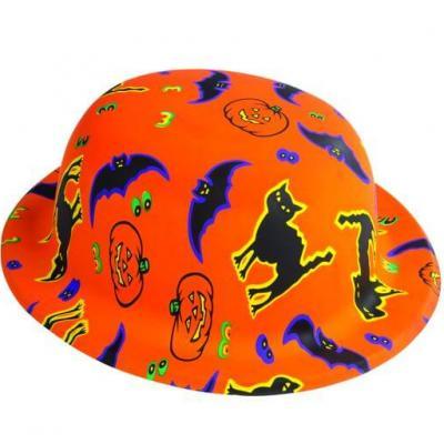 Chapeau melon Halloween orange (x1) REF/64371