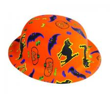 Chapeau melon Halloween orange (x1) REF/64371