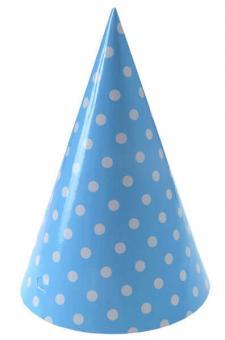 Chapeau pois bleu ciel (x10) REF/5356