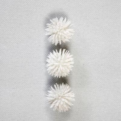 Chardon pailleté blanc (x9) REF/DEC737
