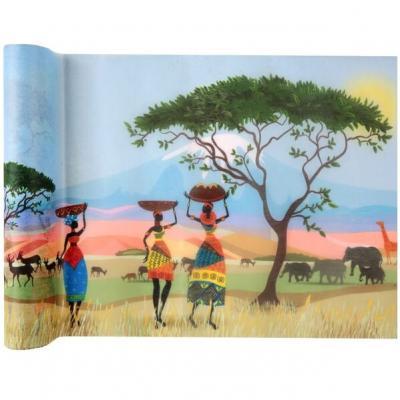 Chemin de table Afrique 30cm x 5m (x1) REF/6315