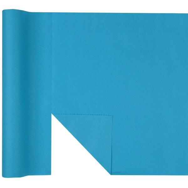 Chemin de table airlaid predecoupe bleu aqua