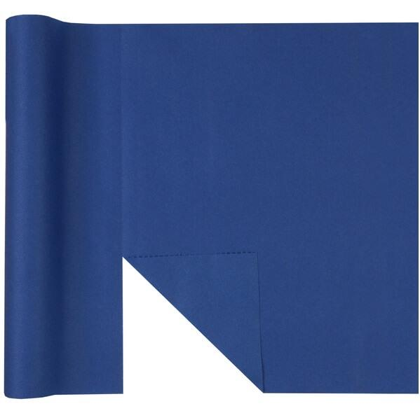 Chemin de table airlaid predecoupe bleu marine