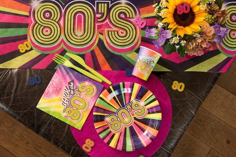 Chemin de table annee 80 multicolore