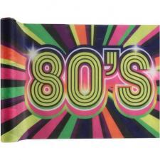 Chemin de table année 80 multicolore 3m x 30cm (x1) REF/6711