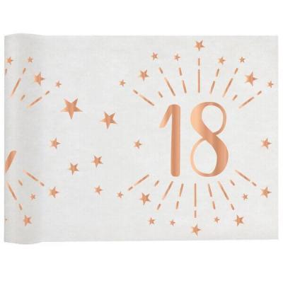 Chemin de table élégant anniversaire 18ans rose gold 30cm x 5m (x1) REF/7344
