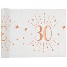 Chemin de table élégant anniversaire 30ans rose gold 30cm x 5m (x1) REF/7344