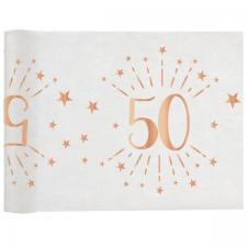 Chemin de table élégant anniversaire 50ans rose gold 30cm x 5m (x1) REF/7344