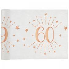 Chemin de table élégant anniversaire 60ans rose gold 30cm x 5m (x1) REF/7344