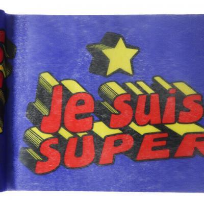 Chemin de table anniversaire: Super héros boy (x1) REF/5200
