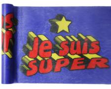 Chemin de table anniversaire: Super héros boy (x1) REF/5200