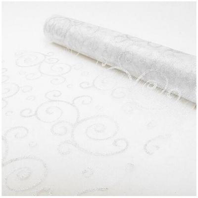 Chemin de table arabesque pailletée blanche (x1) REF/ORG400