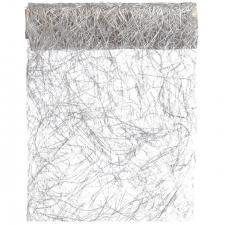Chemin de table abaca 30cm: Argent (x1) REF/2848