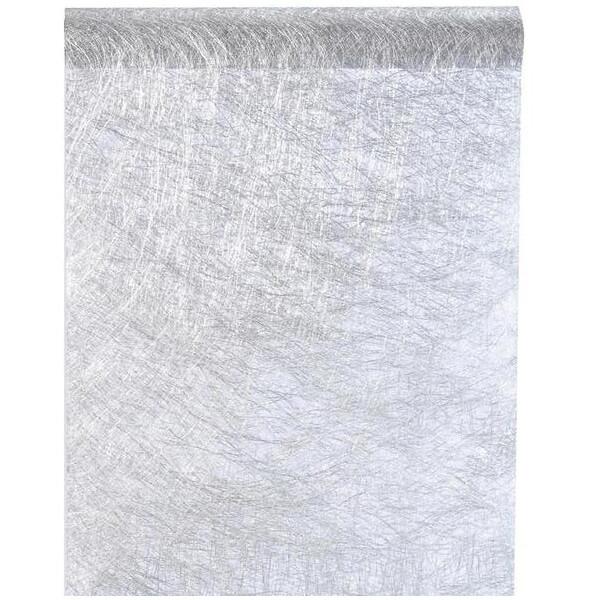Chemin de table argent metallique fanon