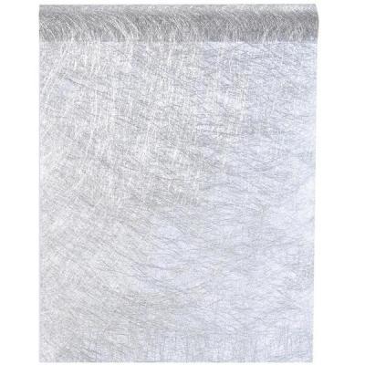 Chemin de table fanon argent 30cm x 5m (x1) REF/3431