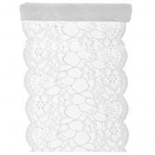 Chemin de table blanc dentelle 18cm x 3m (x1) REF/5290