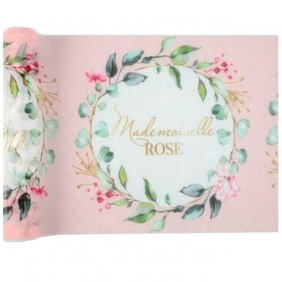 Chemin de table Baby Shower pour fille Mademoiselle Rose (x1) REF/7308