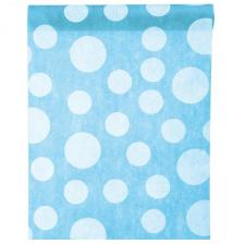 Chemin de table bleu turquoise avec pois (x1) REF/3375