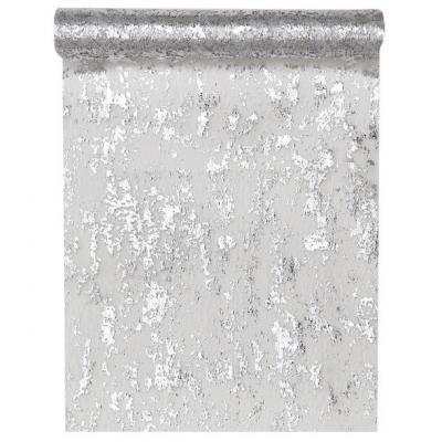 Chemin de table fantaisie brillant argent (x1) REF/4721