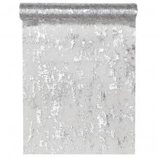 Chemin de table fantaisie brillant argent (x1) REF/4721