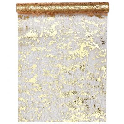 Chemin de table fantaisie brillant or (x1) REF/4721