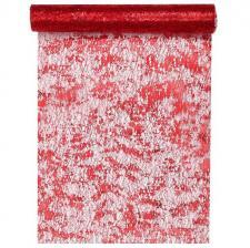 Chemin de table fantaisie brillant rouge (x1) REF/4721