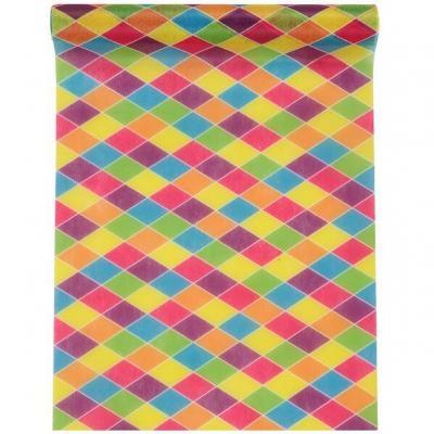 Chemin de table Carnaval multicolore 5m x 30cm (x1) REF/7357