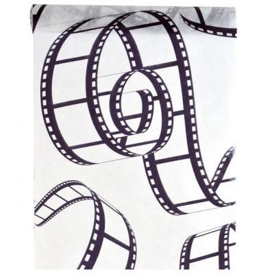 Chemin de table cinéma blanc et noir 30cm x 5m (x1) REF/3608