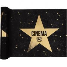 Chemin de table cinéma noir et or métallique (x1) REF/6631