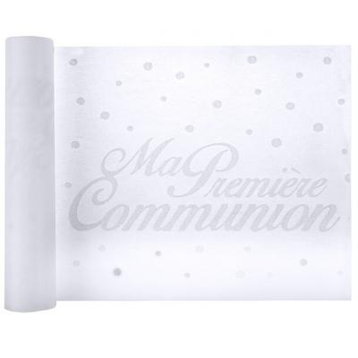 Chemin de table communion blanc 30cm x 5m (x1) REF/6305