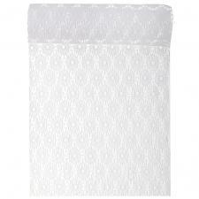 Chemin de table blanc dentelle fleur 18cm x 3m (x1) REF/5676