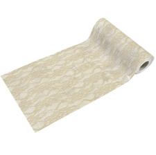 Chemin de table dentelle ivoire 15cm (x5m) REF/RU376