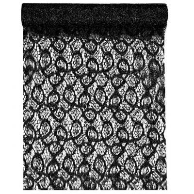 Chemin de table dentelle métallique noir (x1) REF/5086