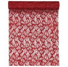 Chemin de table dentelle métallique rouge (x1) REF/5086