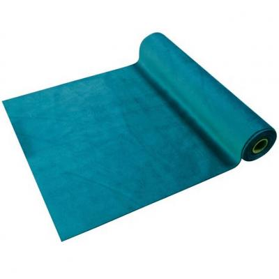 Chemin de table élégant en Velours bleu Canard 28cm x 3.5m (x1) REF/CH577