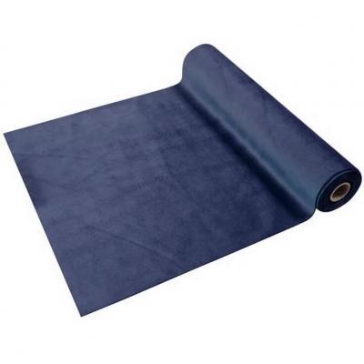 Chemin de table élégant en Velours bleu marine 28cm x 3.5m (x1) REF/CH577