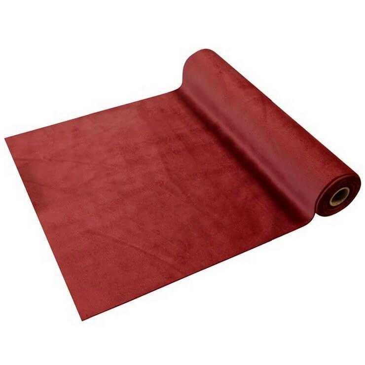 Chemin de table elegant velours rouge