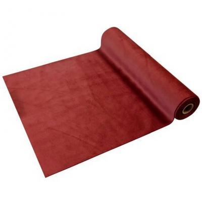 Chemin de table élégant en Velours rouge 28cm x 3.5m (x1) REF/CH577
