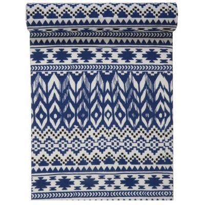 Chemin de table Ethnique bleu 28cm x 3m (x1) REF/5704