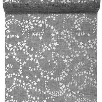 Chemin de table étoile métallisé argent (x1) REF/5122