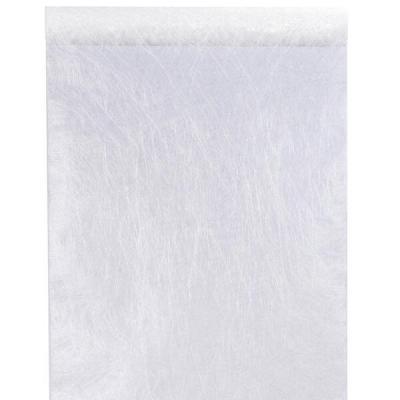 Chemin de table fanon blanc 30cm x 25m (x1) REF/4754