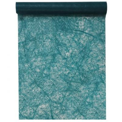 Chemin de table fanon bleu canard 30cm x 25m (x1) REF/4754