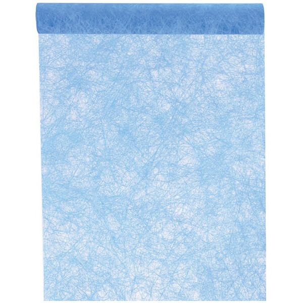 chemin de table fanon bleu turquoise x1 ref 4754