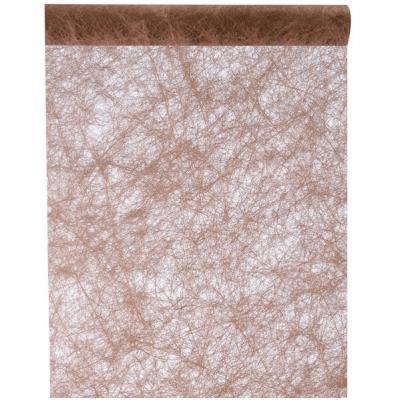 Chemin de table fanon chocolat 30cm x 25m (x1) REF/4754