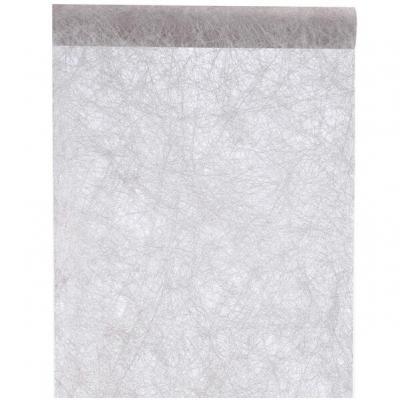 Chemin de table fanon gris 30cm x 25m (x1) REF/4754