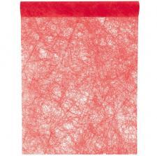 Chemin de table fanon rouge 30cm x 25m (x1) REF/4754