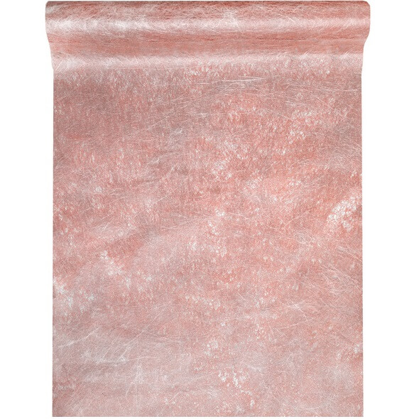 Chemin de table fanon rose gold metallique